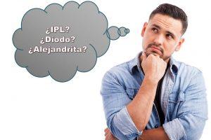 DIFERENCIAS ENTRE IPL, LÁSER DIODO Y LÁSER ALEJANDRITA
